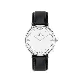 Kapten & Son Campina Silver Black Leather – CA03A0199D11A
