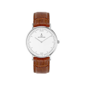 Kapten & Son Campina Silver Brown Croco Leather – CA03A0303D11A