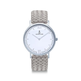 Kapten & Son Campina Silver Grey Woven Leather – CA03A1002D12A