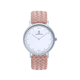 Kapten  & Son Campina Silver Rose Woven Leather – CA03A1031D12A