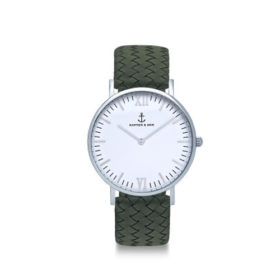 Kapten & Son Campina Silver Pine Green Woven Leather – CA03A1036D32A