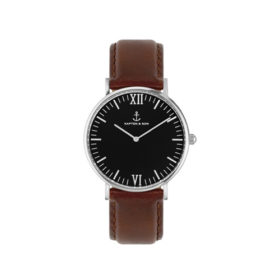 Kapten & Son Campina Black Silver Brown Leather – CA03B0103D11A
