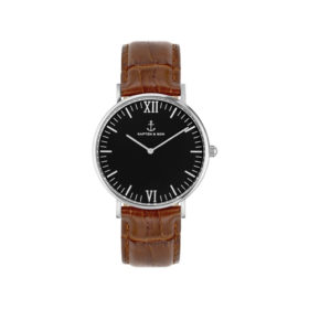 Kapten & Son Campina Black Silver Brown Croco Leather – CA03B0303D11A
