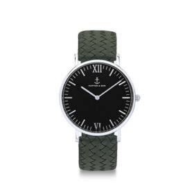 Kapten & Son Campina Silver Black Pine Green Woven Leather – CA03B1036D32A