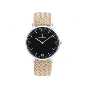 Kapten & Son Campina Silver Black Sand Woven Leather – CA03B1037D12A