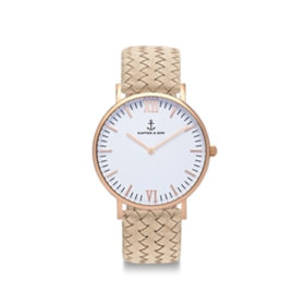 Kapten & Son Campus Sand Woven Leather – CB00A1037F12A