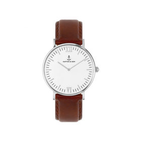 Kapten & Son Campus Silver Brown Leather – CB03A0103F11A