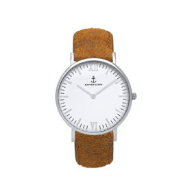 Kapten & Son Campus Silver Brown Vintage Leather – CB03A0203F11A