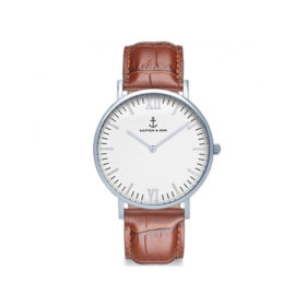 Kapten & Son Campus Silver Brown Croco Leather – CB03A0303F11A