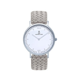 Kapten & Son Campus Silver Grey Woven Leather – CB03A1002F12A