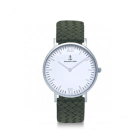Kapten & Son Campus Silver Pine Green Woven Leather – CB03A1036F32A