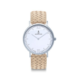 Kapten & Son Campus Silver Sand Woven Leather – CB03A1037F12A