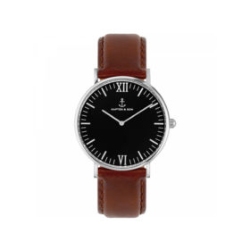 Kapten & Son Campus Black Silver Brown Leather – CB03B0103F11A