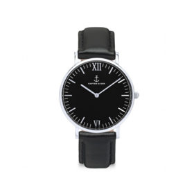 Kapten & Son Campus All Black Silver Leather – CB03B0199F11A