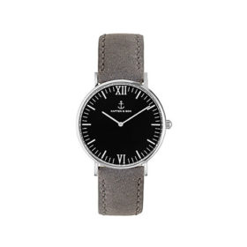 Kapten & Son Campus Black Silver Grey Vintage Leather – CB03B0202F11A
