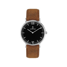 Kapten & Son Campus Black Silver Brown Vintage Leather – CB03B0203F11A