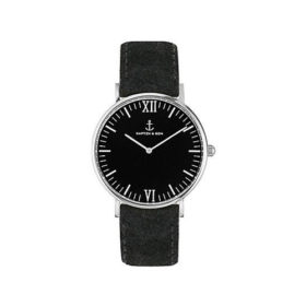 Kapten & Son Campus All Black Silver Vintage Leather – CB03B0299F11A