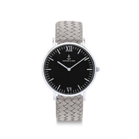 Kapten & Son Campus Silver Black Grey Woven Leather – CB03B1002F12A