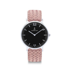 Kapten & Son Campus Silver Black Rose Woven Leather – CB03B1031F12A