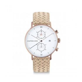 Kapten & Son Chrono Sand Woven Leather – CD00A1037F22A