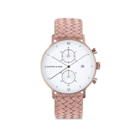 Kapten & Son Chrono Rose Woven Leather – CD00A1039F22A