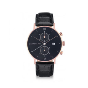 Kapten & Son Chrono All Black Croco Leather – CD00B0399F01A