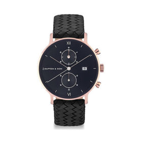 Kapten & Son Chrono All Black Woven Leather – CD00B1099F01A