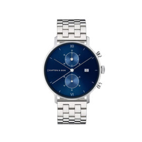 Kapten & Son Chrono Silver Blue Steel – CD03C0826F01A