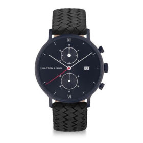 Kapten & Son Chrono Black Midnight Woven Leather – CD07B1099F01A