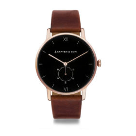 Kapten & Son Heritage Black Brown Leather – CF00B0103F22A