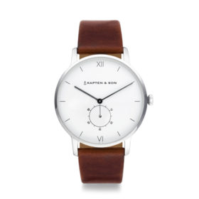 Kapten & Son Heritage Silver Brown Leather – CF03A0103F22A