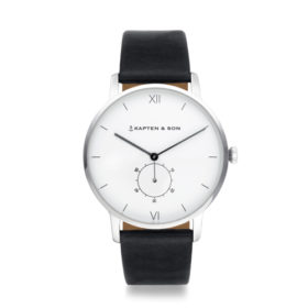 Kapten & Son Heritage Silver Black Leather – CF03A0199F22A