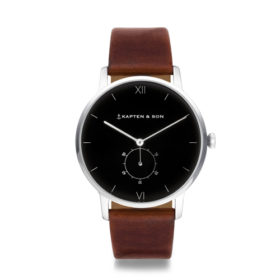 Kapten & Son Heritage Silver Black Brown Leather – CF03B0103F22A